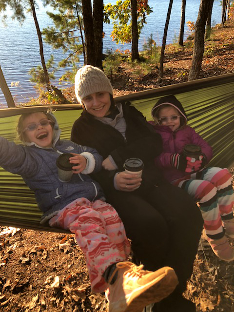 Enjoying Hot Chocolate on a Chilly Camping Trip
