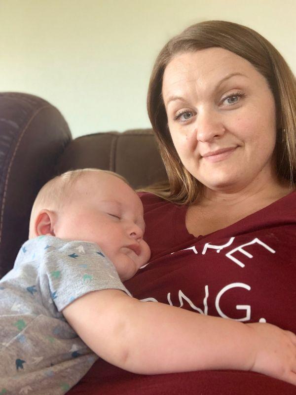 Cuddling with Dalton