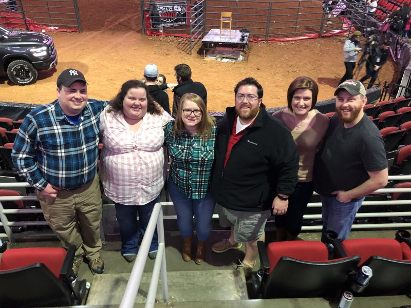 Enjoying the Rodeo with Friends