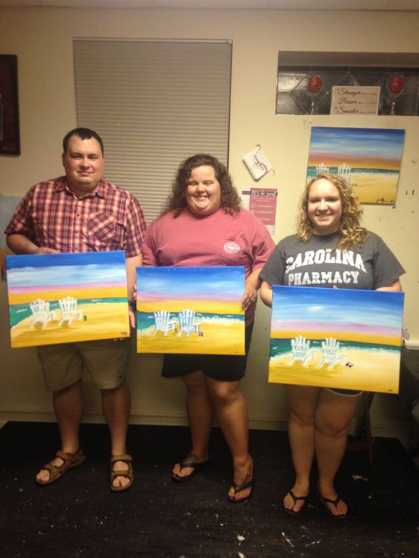 Showing Off Our Masterpieces from Art Class