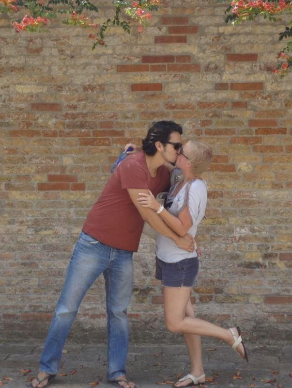 Stealing a Kiss in Romantic Italy