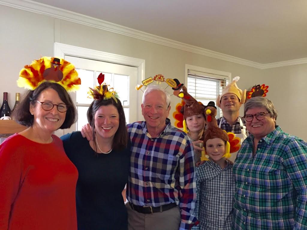 Fun Family Photo at Thanksgiving