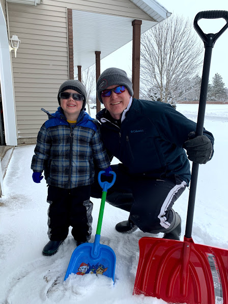 Shoveling with Dad