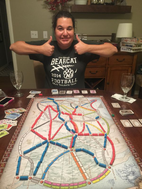 Sarah Won at Game Night