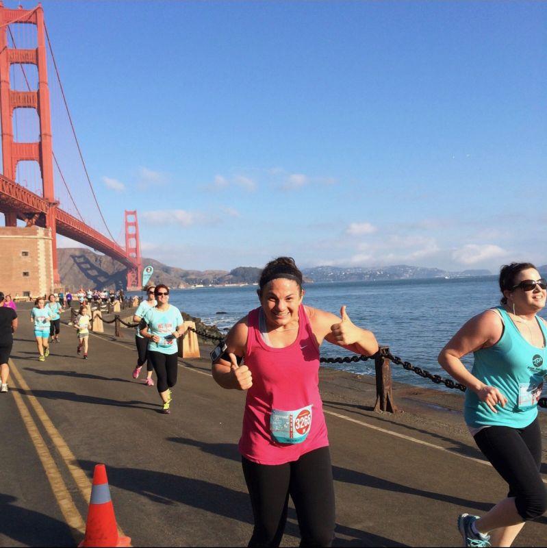Running in a 10K Race