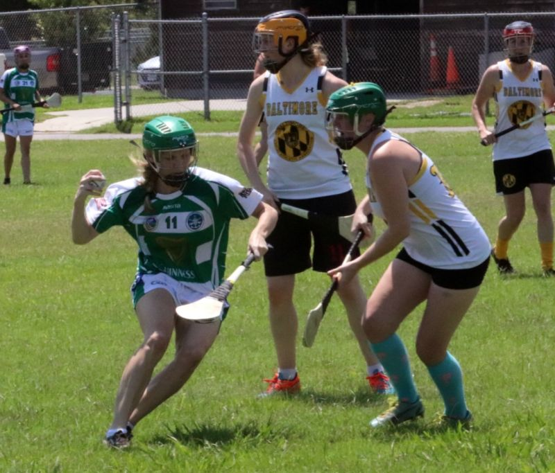 Natalie Playing Camogie