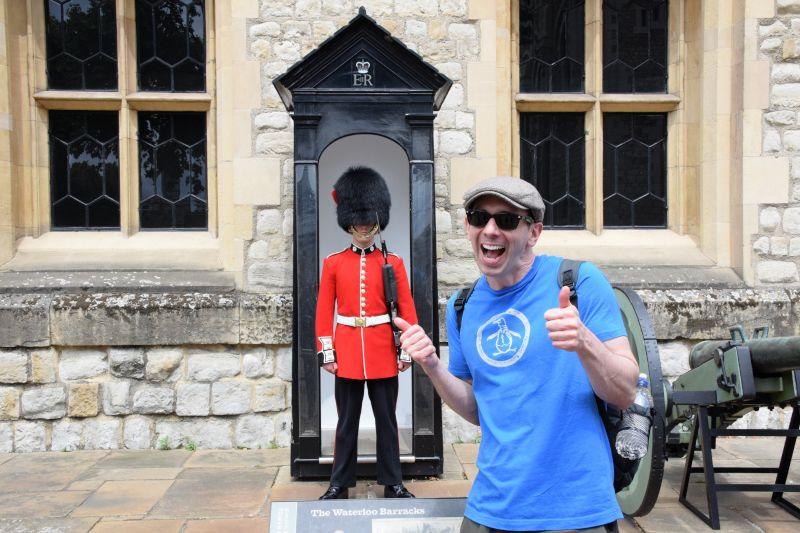 Erich Having Fun in London