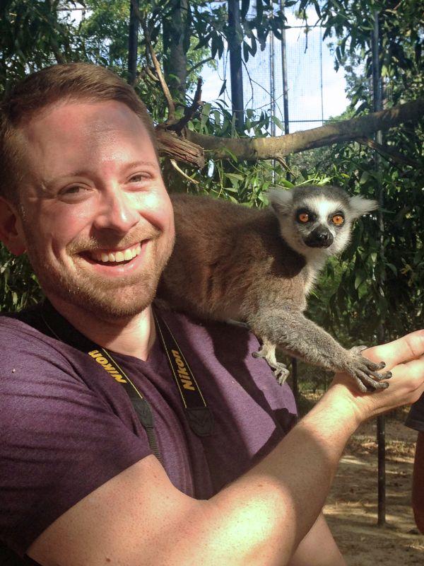 Brian & His Lemur Friend