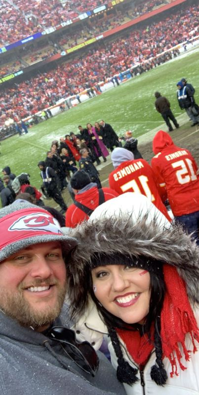 Cheering On the KC Chiefs