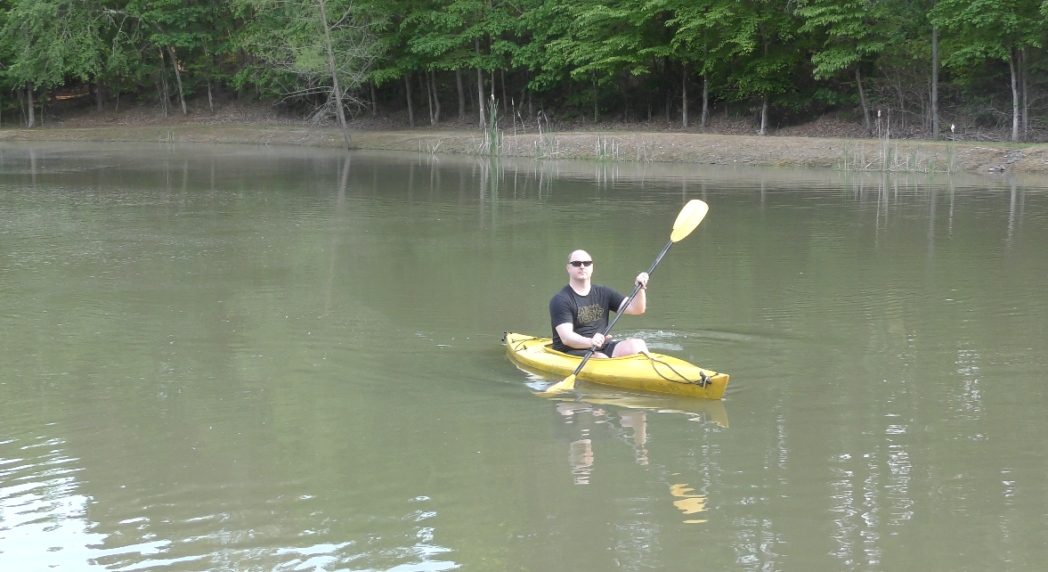 Tony Kayaking at Grandaddy Jay's Pond