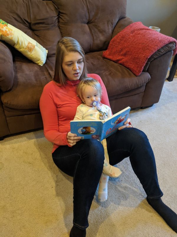 Reading to Our Best Friend's Daughter, Ella