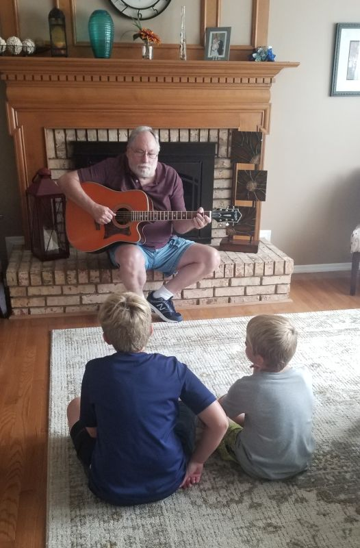 Papa Loves Playing for the Grandkids