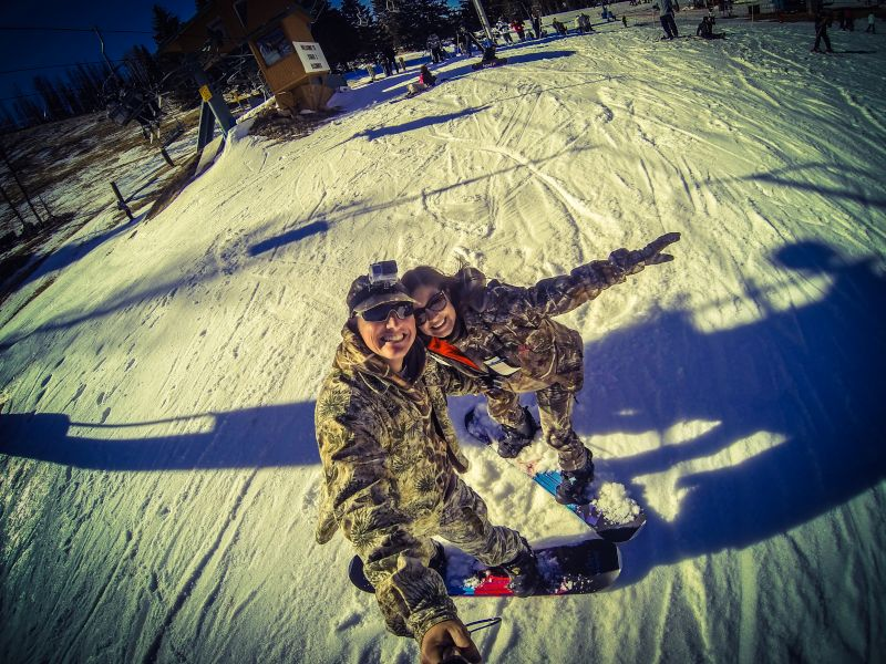 Snowboarding in New Mexico