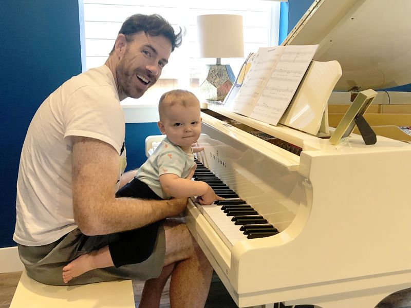 Playing Piano With Our Nephew