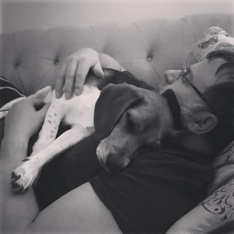 Naptime Snuggles with Linus