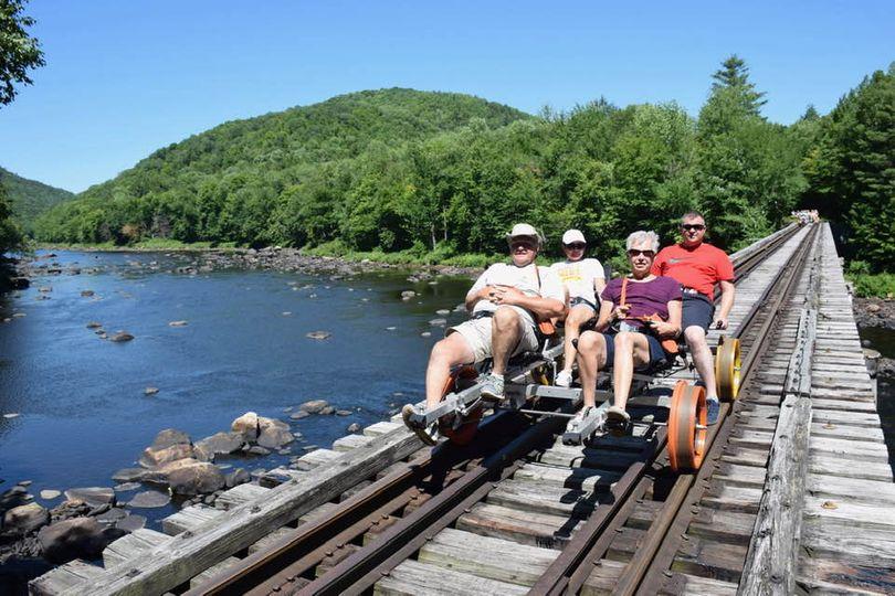 Forest Railroad Bike With Matt's Parents