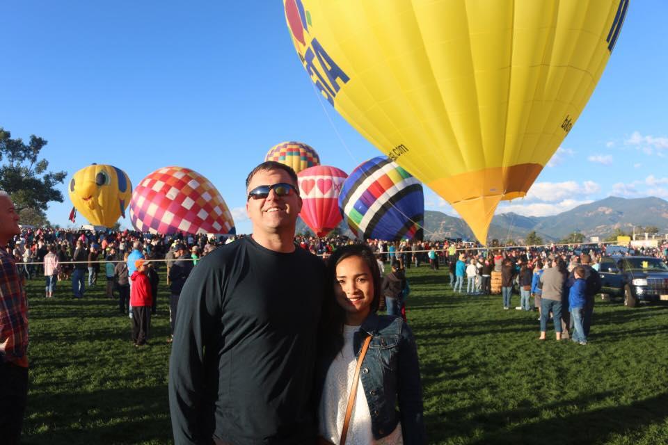 At a Hot Air Balloon Festival in Colorado
