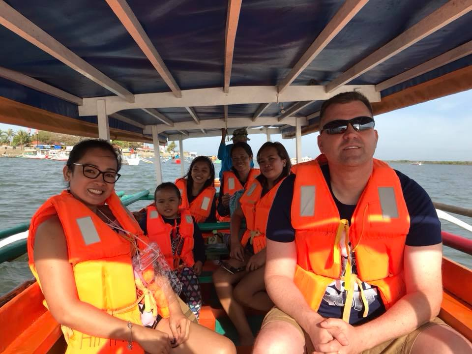 Boat Ride With Julie's Family in the Philippines
