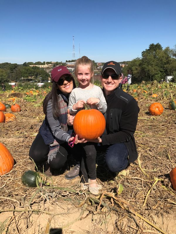 Pumpkin Picking with Our Niece