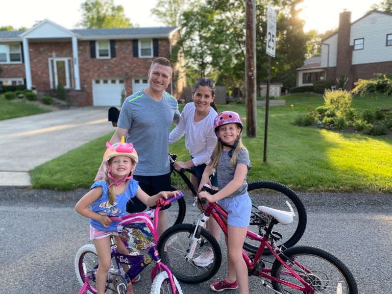 Evening Bike Ride with Our Nieces