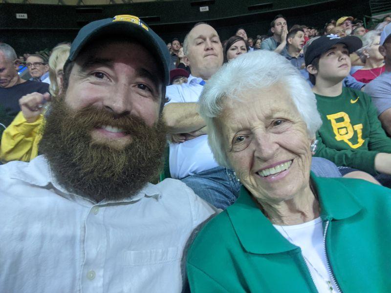 Cory & His Grandma at a Basketball Game
