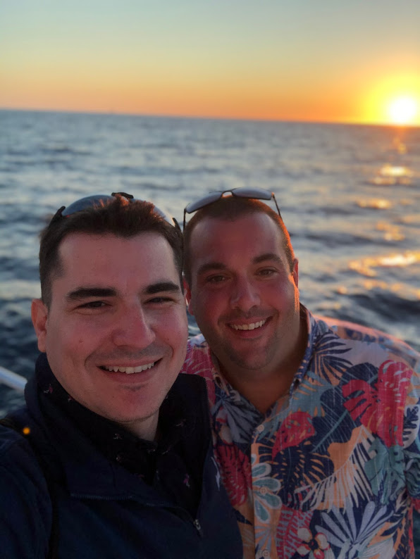 Enjoying a Beautiful Sunset Cruise in Mexico