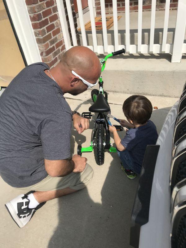 Teaching Calvin to Fix His Bike