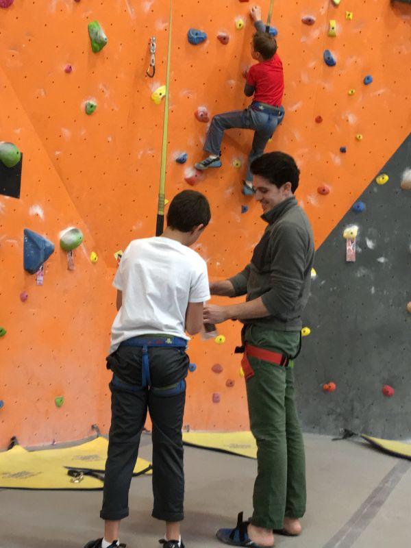Teaching Our Nephews How to Rock Climb