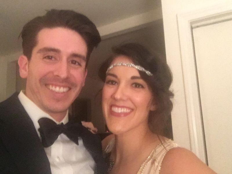On Our Way to a 20's Themed Party
