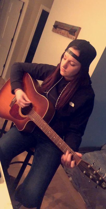 Katie Playing Guitar