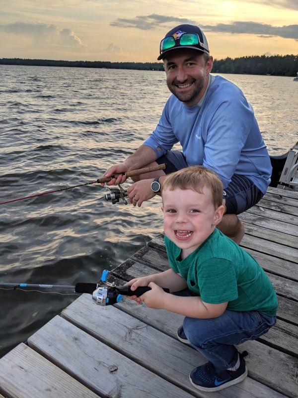 Fishing with Our Godson