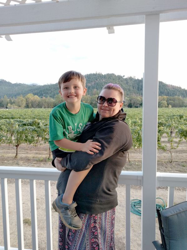 At the Vineyard With Our Nephew