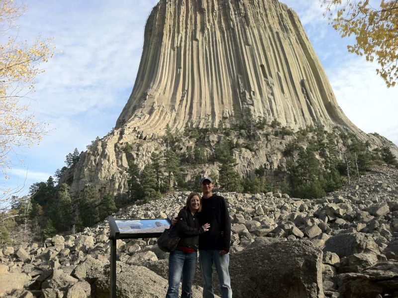 Feeling Very Small at Devil's Tower National Monument