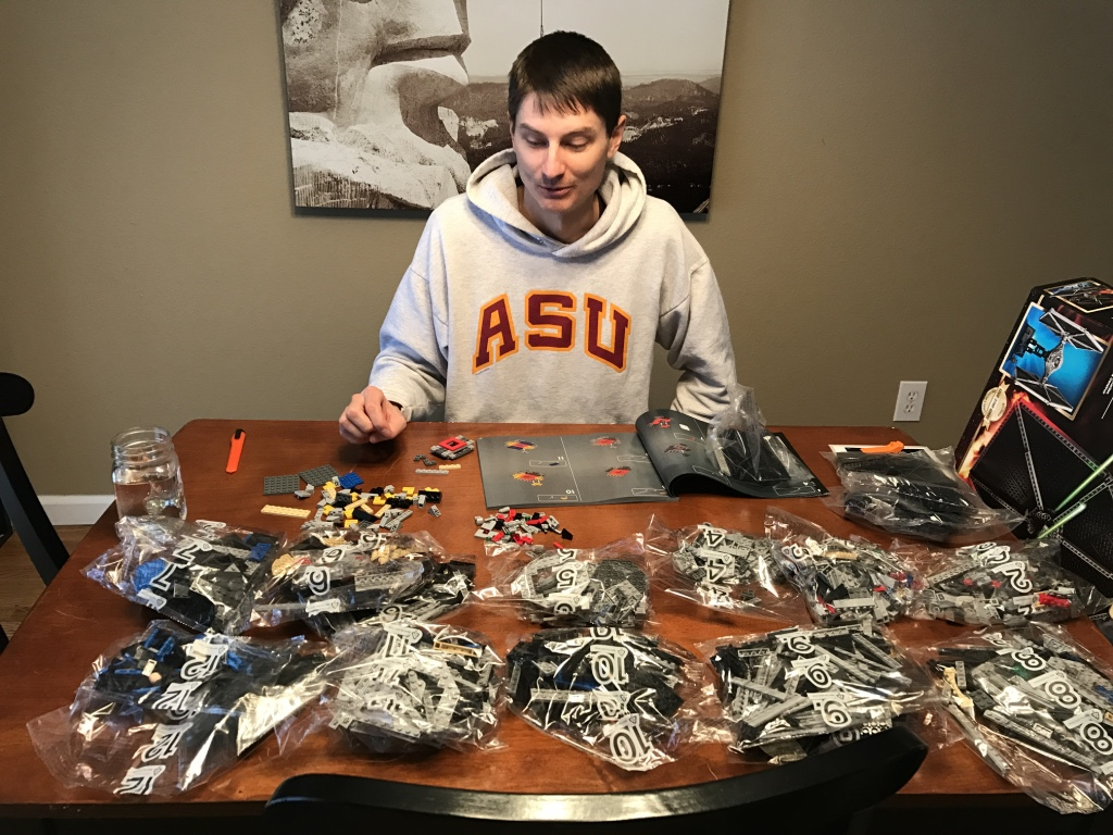 Matt Building With Legos