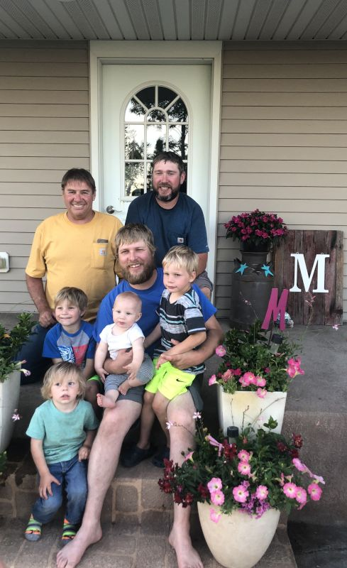Mike With His Dad, Brother & Nephews