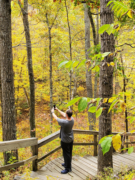 David Capturing the Beauty of Nature at Caesar's Creek State Park