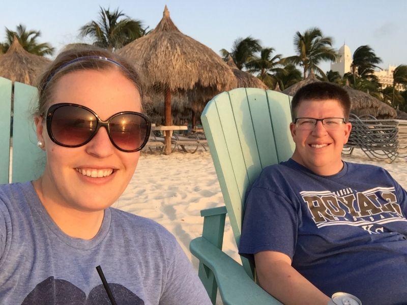 Enjoying the Beach in Aruba