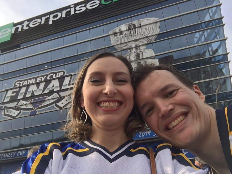Cheering on the Blues at the Stanley Cup