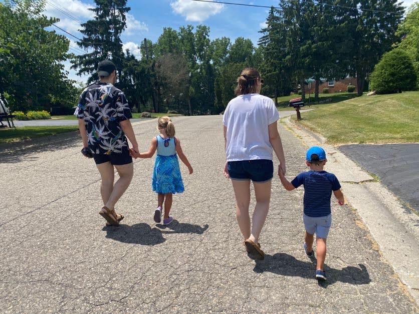 Going for a Walk with Our Niece & Nephew