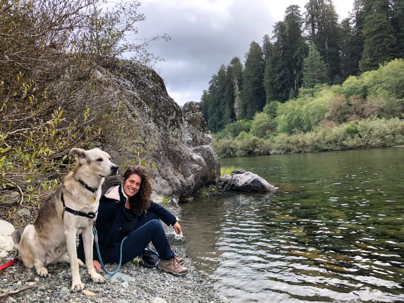 Gina & Samba by the River