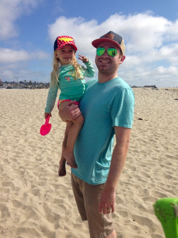 Beach With Uncle Jeff