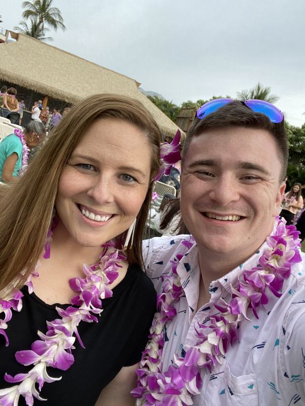 At a Luau in Hawaii