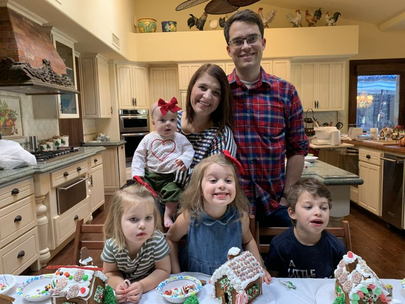 Decorating gingerbread houses - a family tradition for over 50 years