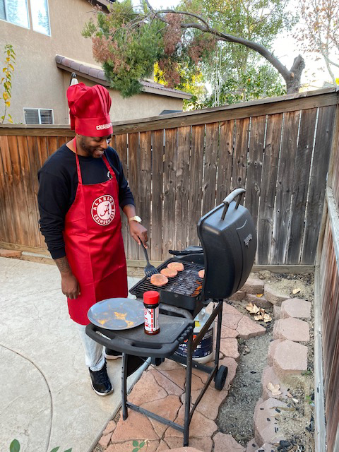 Tre Makes the Best Grilled Burgers!