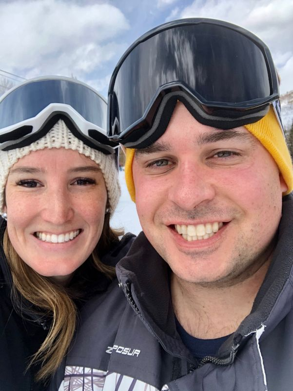 Skiing in Vail, CO