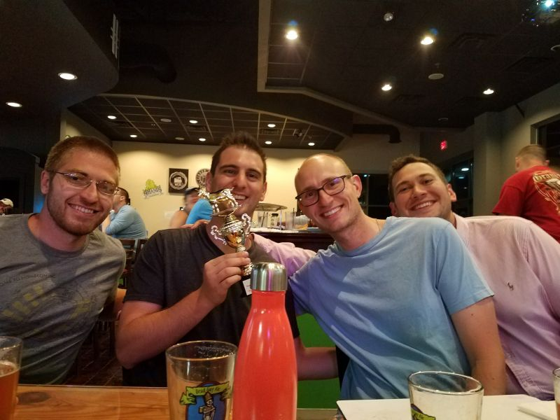 Kyle and Friends are Trivia Champs!