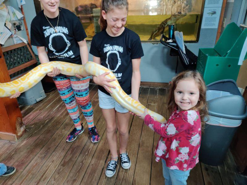 Visiting the Aquarium with Niece Aubrey