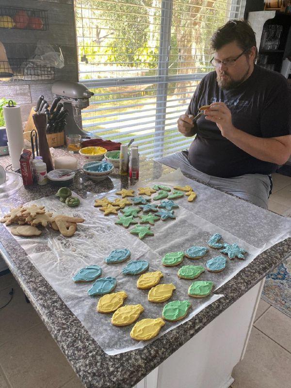 Making Christmas Cookies!