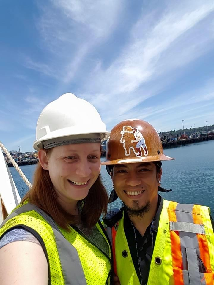 Visiting Mike on a Container Ship