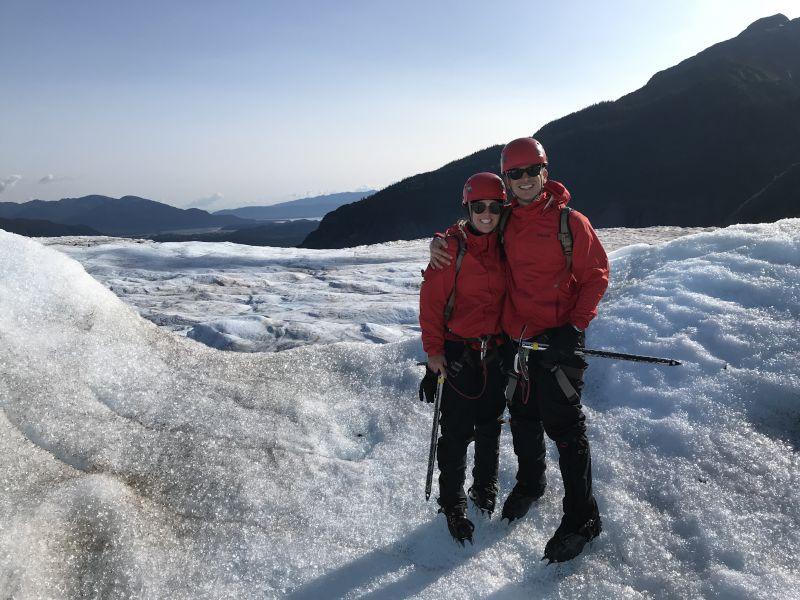Just 'Chilling' on Mendenhall Glacier, Alaska